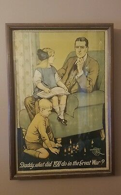 WW1 British wartime lithograph Poster 1914-15 Very Rare!