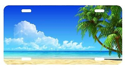Custom Personalized  License Plate Auto Car Tag Beach With Free Text