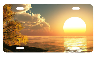 Custom Personalized  License Plate Auto Car Tag Sunset With Free Custom Text