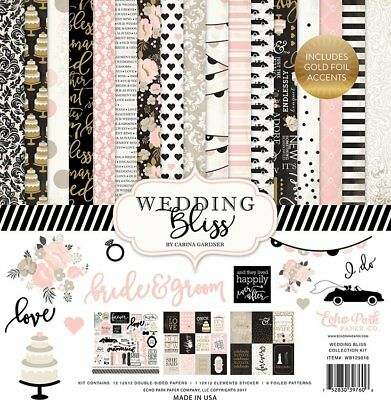 Echo Park Paper Wedding Bliss Collection Scrapbook Kit Papers & Stickers