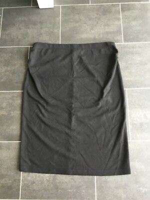 Ladies Black Stretchy Maternity Work Office Skirt Size 12 Moda Mothercare
