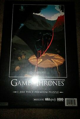 USAopoly Game of Thrones Jigsaw Puzzle 2 different puzzles (1000 Piece) New seal