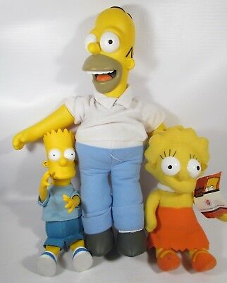 The Simpsons Family Plush Talking Homer, Bart and Lisa The Office
