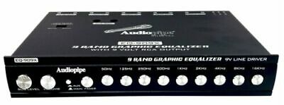 Car Audio 9 Band Parametric Graphic Equalizer 9V Line Driver