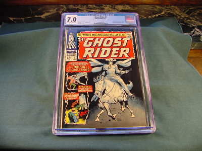 GHOST RIDER # 1 CGC 7 0 Grade Origin 1st Appearance of the new GR Carter  Slade