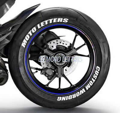 """Permanent Tire Letters CUSTOM 1in/"""" 16/"""" 17/"""" 18/"""" 19/""""20/""""21/""""22/"""" Tire 8 Pcs"""
