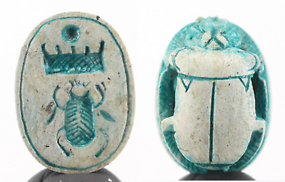 Hartor Scarab with cartouche of Pharaoh Thutmosis lll - 2,1cm.