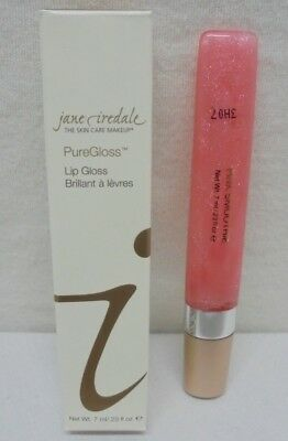 Jane Iredale PureGloss Lip Gloss Pink Smoothie 0.23oz 7ml New In Box Free Ship
