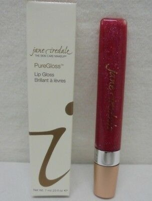 Jane Iredale PureGloss Lip Gloss Red Currant 0.23oz 7ml New In Box Free Ship