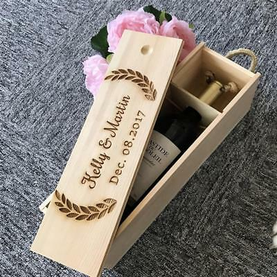 Customized Wooden Champagne Personalized Wine Holder Box Party Decoration Gifts