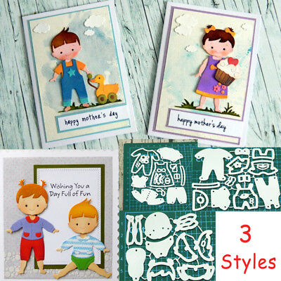 Boy Girl Clothes Metal Cutting Dies Stencil Scrapbooking Embossing Card Craft
