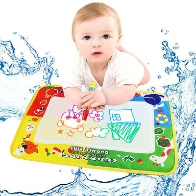 4 Color Water Drawing Mat Board /&Magic Pen Doodle Kids Toy Gift 80 x 60cm C5
