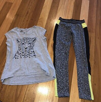 Girls T Shirt And Leggings Size 10