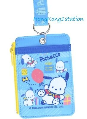 Lanyard Sanrio Pochacco PC Coin Purse ID Credit Card Badge Pass Case Holder Bag