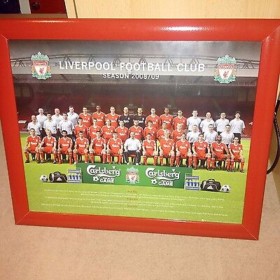 Liverpool Team Photograph Season 2008/09 Framed