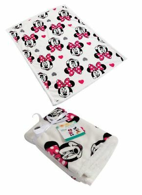 Disney Minnie Mouse Baby Girls Newborn Soft Fleece Blanket 75x100cm cf6e07e04