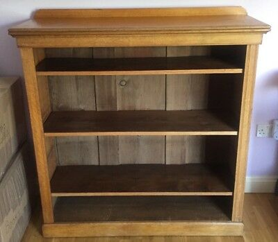 *clearance* Antique 19Th C Victorian Walnut Open Bookcase