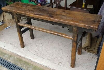 *clearance* 19Th C Chinese Altar Table Shanxi Prov. Lacquered Elmwood