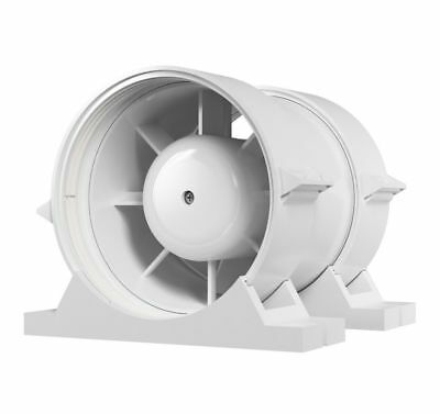 Bathroom Inline Extractor Fan 125mm with Pipe Clamps Duct Tube Ventilator
