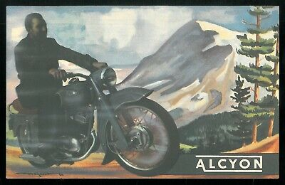 Catalogue couleur ALCYON 1955 Motos Cyclos - ARMOR OLYMPIQUE - Brochure Dépliant