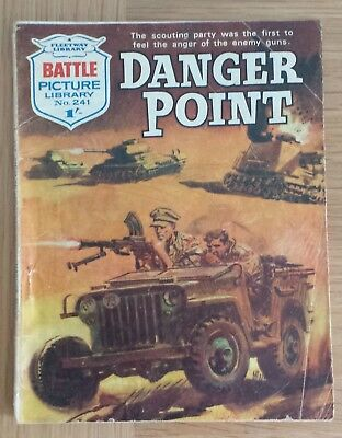 BATTLE PICTURE LIBRARY  No.241 VERY RARE. by FLEETWAY LIBRARY 1966