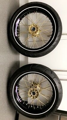 ALPINA TUBELESS WHEELS For KTM Supermoto Sumo Halfhalf Fluo - Alpina motorcycle wheels