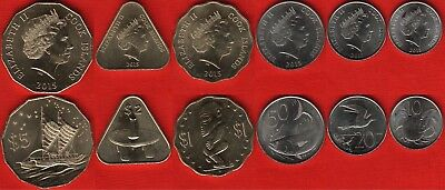 Cook Islands set of 6 coins: 10 cents - 5 dollars 2015 UNC
