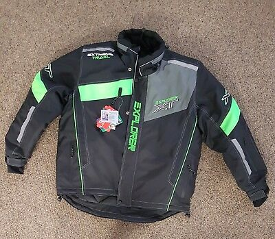 Mens Snowmobile suit green jacket and pant Explorer
