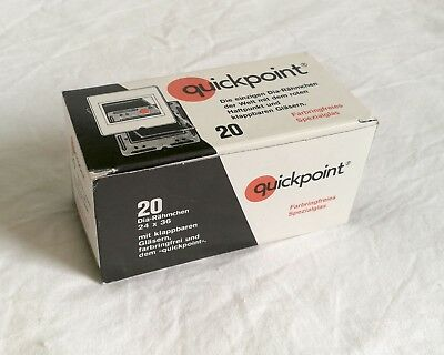 Quickpoint 35mm glass slide mounts - 20 per box - unused but open