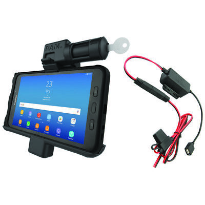 RAM Hard-Wired Locking Powered Holder for Samsung Galaxy Tab Active2