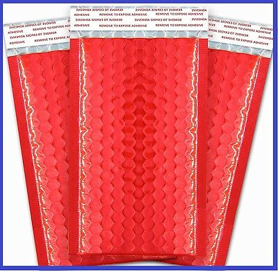 Red Poly Bubble Mailers Shipping Mailing Padded Bags Envelopes Color *Any Size*