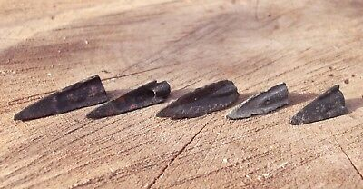 "5 Old Original Ancient Scythian-Sarmatia Barbed Arrowhea 7-4 BC ""Super offer"" #2"