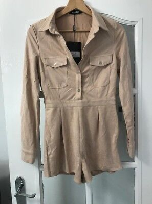 Missguided nude playsuit, size 6