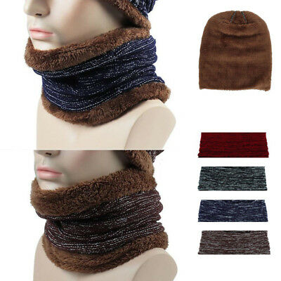 Snood Scarf Winter Hat Fleece Neck Warmer Balaclava Men Women Black Ski