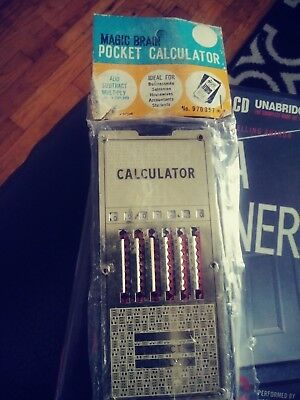 Vintage chadwick magic brain calculator with instructions | ebay.