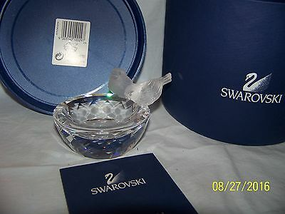 Swarovski Crystal Bird Bath Figurine New In Box 7460Ntr108000 Retired