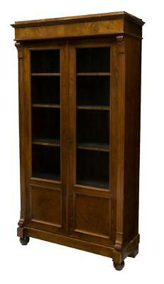 ANTIQUE CONTINENTAL GLAZED DOOR BOOKCASE 19th / 20 century