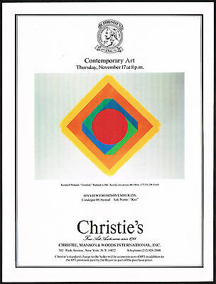 1977 Vintage Christies Contemporary Auction Kenneth Noland Art Print Ad
