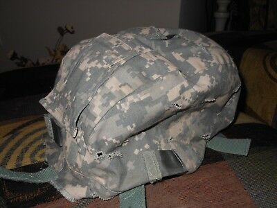 US Military Issue Army ACU Camouflage ACH MICH Combat Helmet Cover Size SM/MED