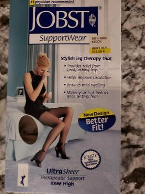 JOBST Ultra Sheer 8-15mmHg Support Compression Stockings 7-9 Knee Black CT