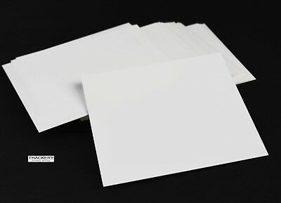 """2 pieces of Square ALUMINA CERAMIC SHEETS 4"""" x 4"""" x .020"""" (.5mm) Thick US SELLER"""