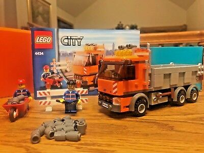 Lego City Traffic Dump Truck 4434 100 Complete With 2 Minifigs And
