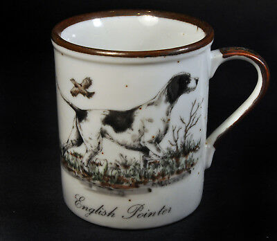 Vintage Otagiri English Pointer White Speckled Stoneware 7 1/2oz. Coffee Mug Cup