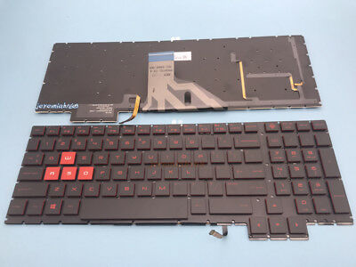 FOR HP Omen 15-ax010nd 15-ax025nd 15-ax080nd 15-ax210nd KEYBOARD Red backlit US