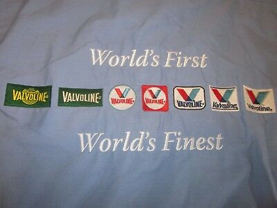 rare Valvoline Motor Oil Embroidered Mechanic Shirt sz Med Worlds First & Finest