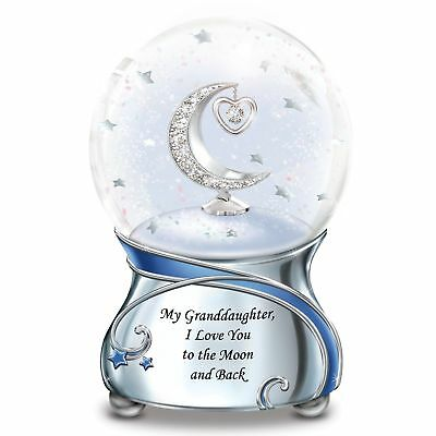 Granddaughter, I Love You To The Moon And Back Musical Snow Globe