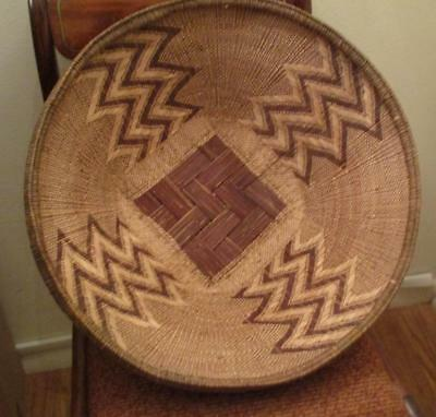 Huge Native American or African Woven Basket 19 3/4""