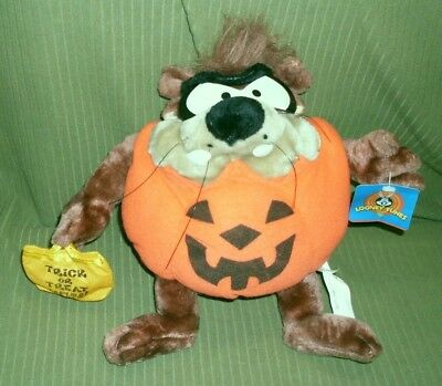 Ace WB Looney Tunes Halloween Taz Tasmanian Devil Plush New With Tag
