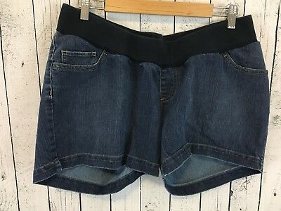 Oh Baby by Motherhood Sz L Large Maternity Jean Shorts L1