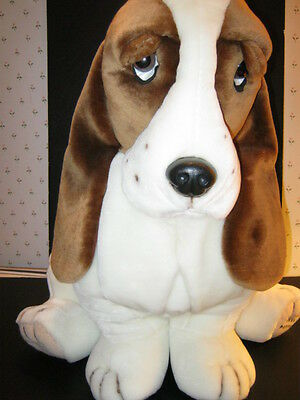 "Vintage & Rare Plush Hush Puppies Basset Hound by Wolverine -Jumbo 32""-New-Last"